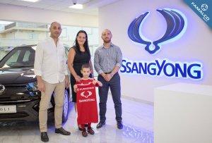 SsangYong sponsor Fgura football team