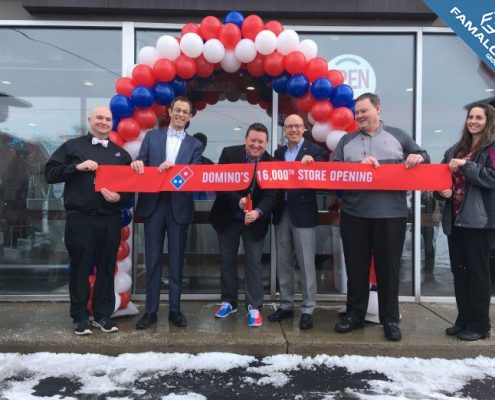 Domino's opens their 16,000th Store