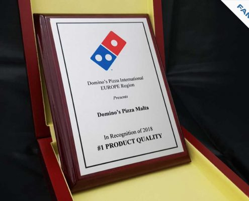 Dominos malta Best in europe award